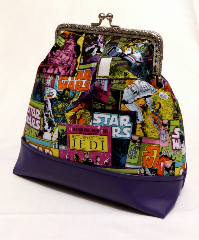 Kiss Clasp Bag with Purple Base Star Wars