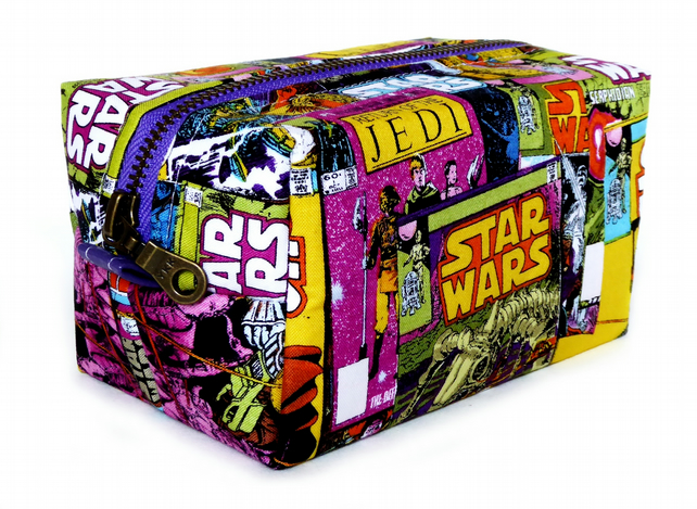 Limited addition Purple Star Wars Fabric Make-up Box Bag