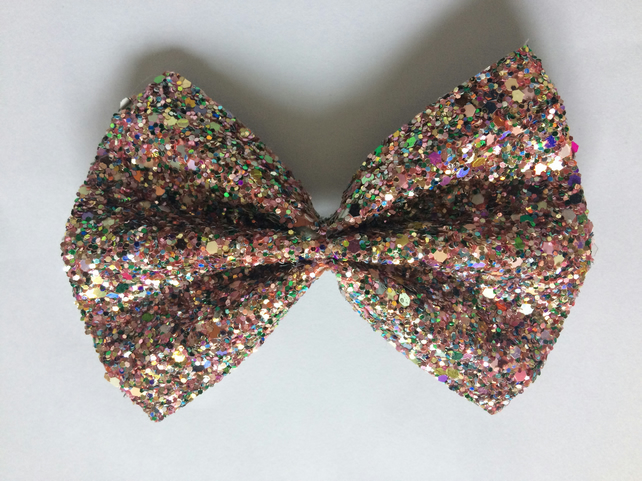Glitter Hair Bow (confetti)