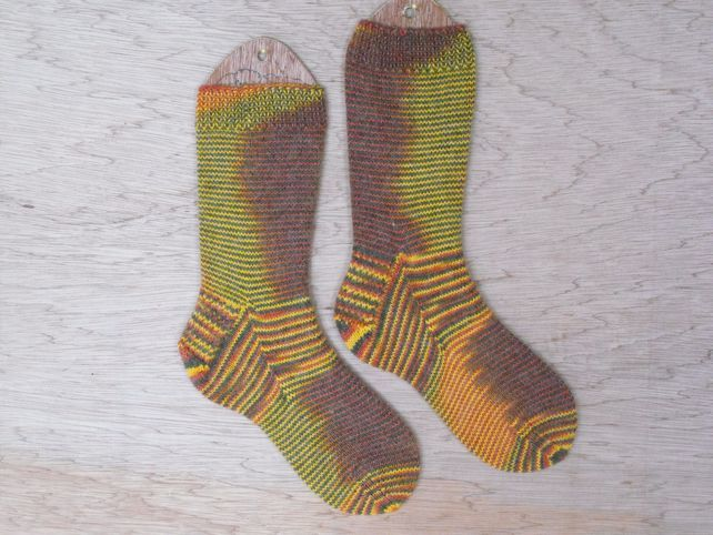 Luxury hand knitted alpaca socks MEDIUM size 5-7