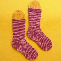 SALE: Hand knitted socks SMALL size 4-5