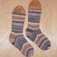 Hand knitted socks SMALL size 4-5