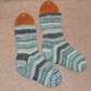 Hand knitted chunky cosy socks MEDIUM size 5-7