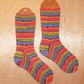 Hand knitted socks, TROPICAL BIRDS, MEDIUM, size 5-7