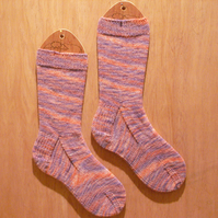 SUMMER SALE: Hand knitted socks MEDIUM size 5-7