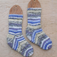 SUMMER SALE: Hand knitted chunky socks SMALL size 4-5