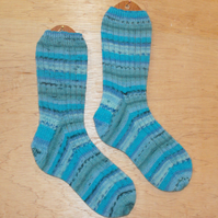 Hand knitted socks, LARGE, size 9-11