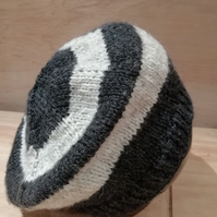 Hand knitted slouchy beret