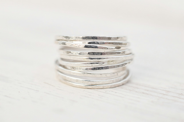 Fine Silver Stacking Ring