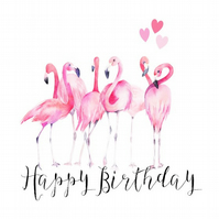 Flamingo Birthday Card for any age