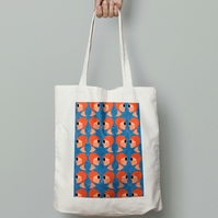 Lido Ladies Orange Tote Bag