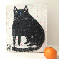 Blue nosed cat painting
