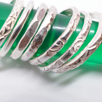 sterling silver stacker rings various designs
