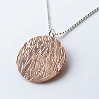 Copper meadow medallion and chain UNISEX