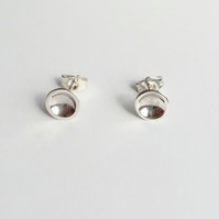 Sterling silver dot stud earrings