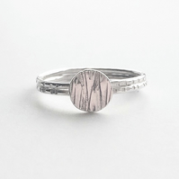 Sterling silver meadow ring