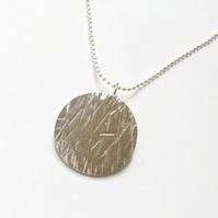 Sterling silver Meadow pendant with chain