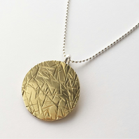 Brass Meadow medallion pendant with chain UNISEX