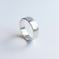 Sterling silver meadow band ring