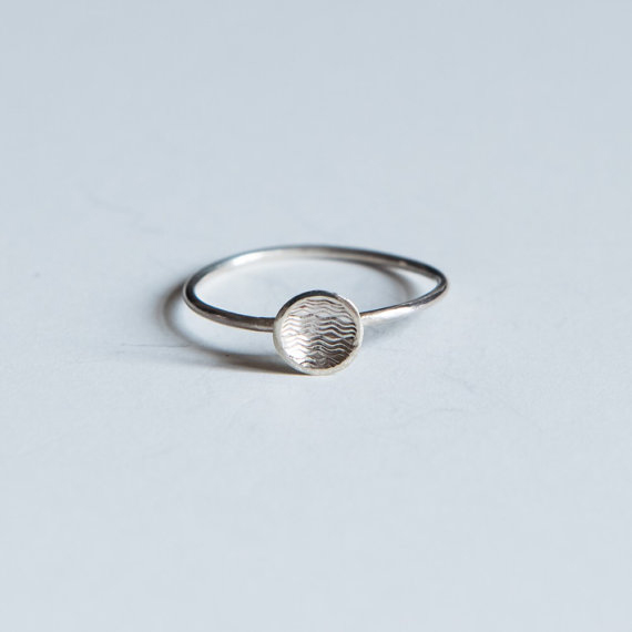 Sterling silver dot ring
