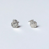 Sterling silver meadow stud earrings