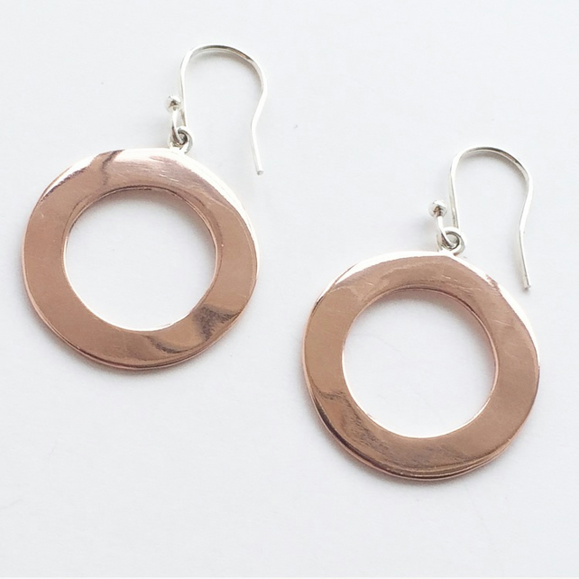 O Earrings - medium - all copper