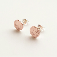 Copper meadow stud earrings