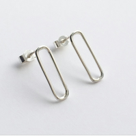 Sterling Silver Linear Earrings