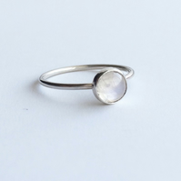 Sterling Silver Moonstone Gemstone Ring