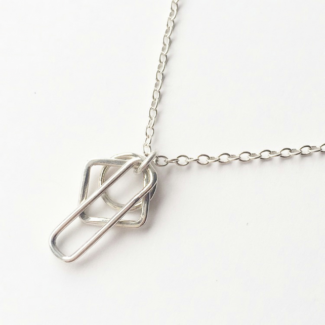 Sterling Silver Linear Necklace