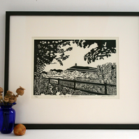 Limited Edition, Hand Pulled, Lino Print - The Isle of Avalon