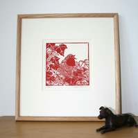 Limited Edition - Lino Print - Robin