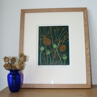 A Limited Edition - LinoPrint - Lunns Field