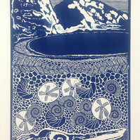 Limited Edition Lino Print - Mupe Bay