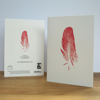 Red Feather - A Fine Art Blank Greeting Card