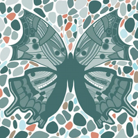 Postcards Notelets - Pack of 10 - Butterfly Design