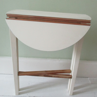 Small Painted Drop-leaf Table