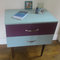 Painted Retro Two Drawer Chest