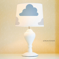 Clouds Lampshade, Diameter 34cm (13.4in). Hand painted