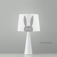 Rabbit Lampshade. Diameter 23cm (9in). Ceiling or floor, table lamp