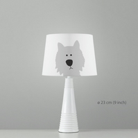 Dog Westie Lampshade. Diameter 23cm (9in). Ceiling or floor, table lamp