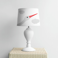 Stork bird Lampshade. Diameter 23cm (9in).Ceiling or floor, table lamp