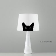 "Cat Lampshade. Diameter 23cm (9""). Ceiling or floor, table lamp"