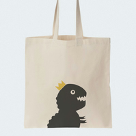 T-Rex Dinosaur Cotton Tote bag, Material shopping bag, Market bag, Beach bag