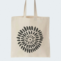 Flower Burgeon Cotton Tote bag, Material shopping bag, Market bag, Beach bag