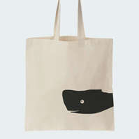 Whale Cotton Tote bag, Material shopping bag, Market bag, Beach bag