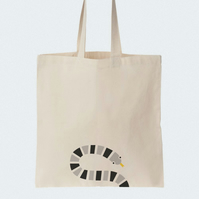 Snake Cotton Tote bag, Material shopping bag, Market bag, Beach bag