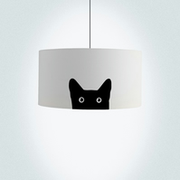 "Cat Drum Lampshade, Diameter 45 cm (18""), Ceiling or floor lamp"