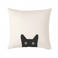 "Black Cat Cushion, cushion cover 50x50 cm (20x20"")"