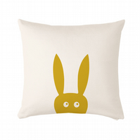 "Rabbit Cushion, cushion cover 50x50 cm (20x20"")"